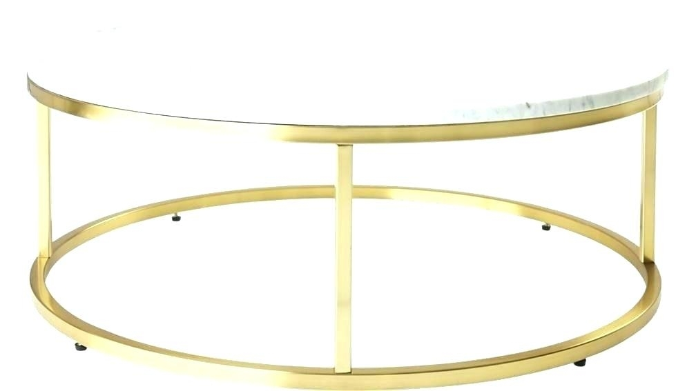 Marble And Brass Coffee Table Marble And Brass Coffee Table Round Intended For Smart Round Marble Brass Coffee Tables (Image 18 of 40)