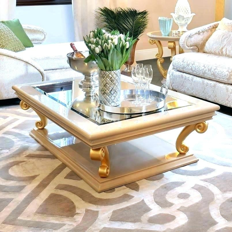 Marble And Gold Coffee Table Gold Leaf Coffee Table Side Tables Gold With Regard To Gold Leaf Collection Coffee Tables (Image 23 of 40)
