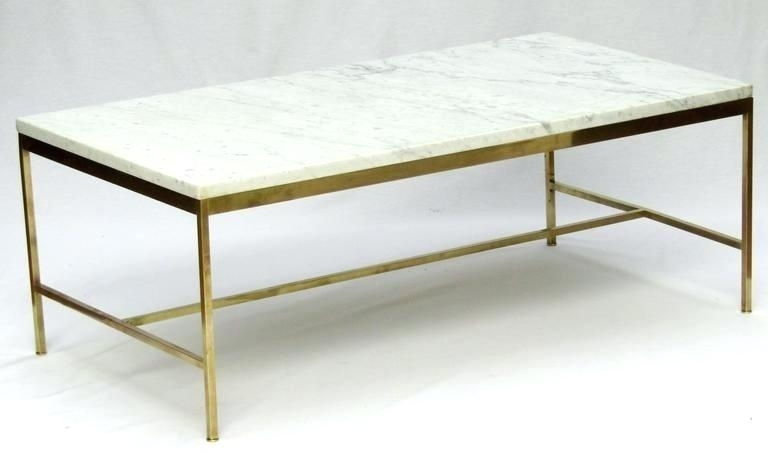 Marble Brass Coffee Table With Regard To Rectangular Coffee Tables With Brass Legs (View 40 of 40)