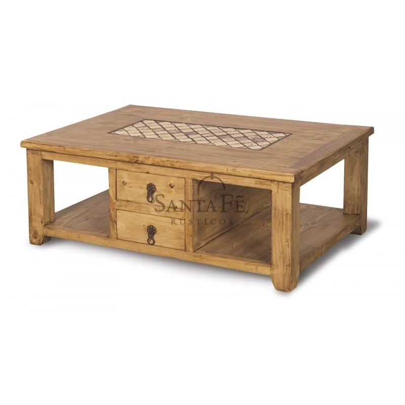 Marble Coffee Table 2 Sides – Santa Fe Rustic Inside Santa Fe Coffee Tables (Image 5 of 40)