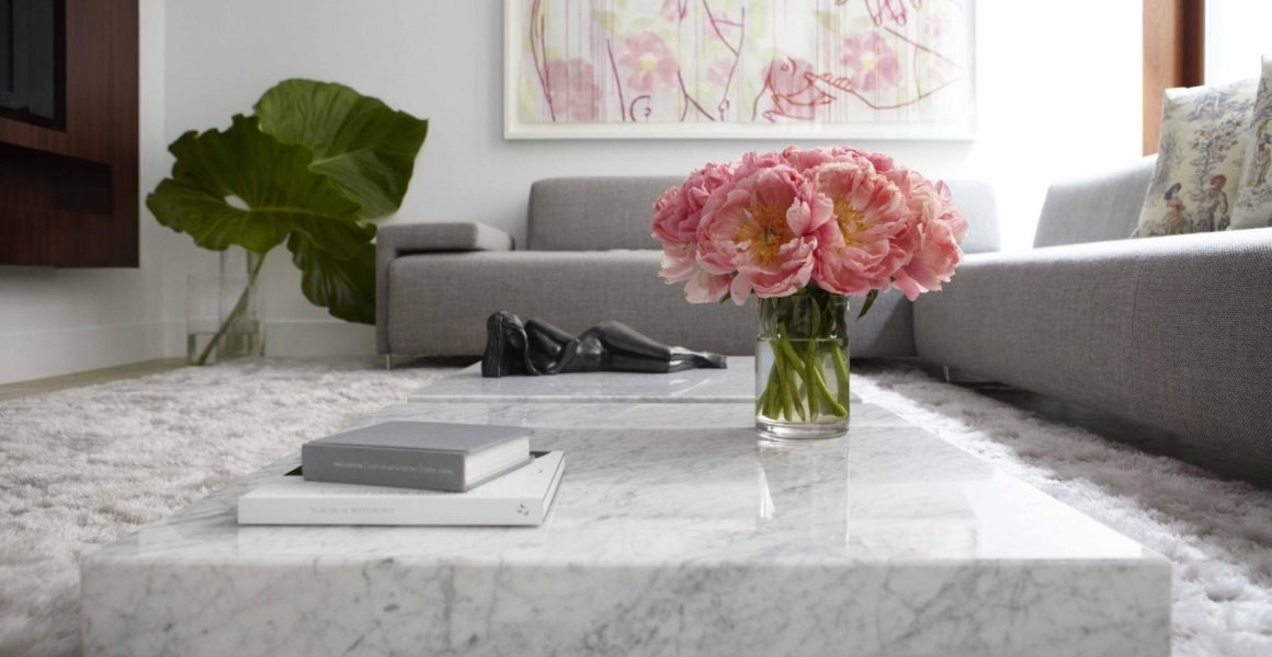 Marble Coffee Table Design, Style Ideas And Tips – Sefa Stone With Large Slab Marble Coffee Tables With Antiqued Silver Base (Image 11 of 40)