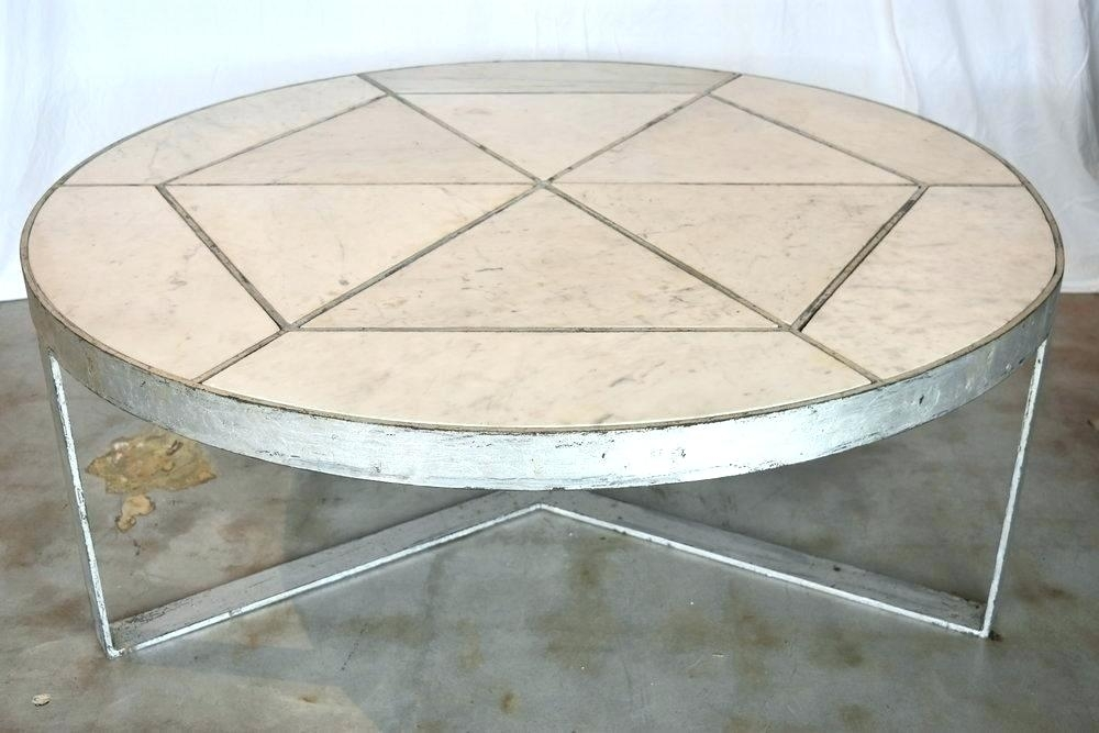 Marble Coffee Table Modern Marble Coffee Table Silver Leaf Over Iron Regarding Modern Marble Iron Coffee Tables (Image 25 of 40)