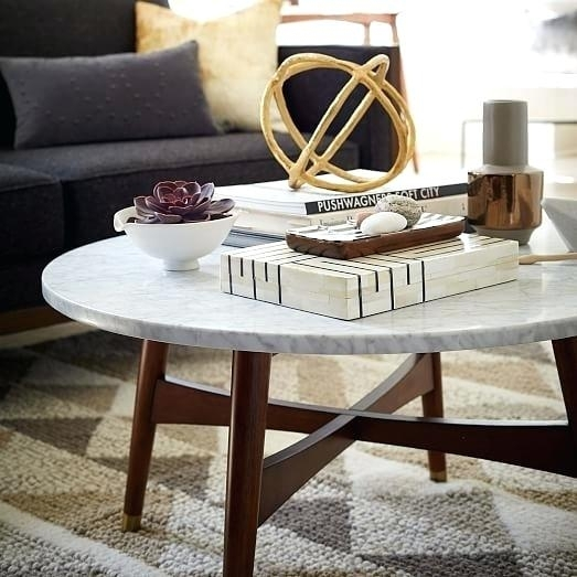 Marble Coffee Table Round Smart Round Marble Brass Coffee Table With Regard To Smart Round Marble Brass Coffee Tables (Image 23 of 40)