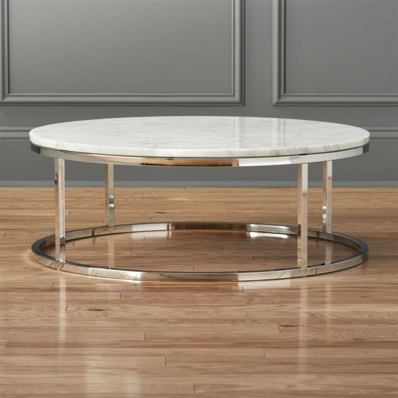 Marble Coffee Tables | Cb2 In Intertwine Triangle Marble Coffee Tables (View 3 of 40)