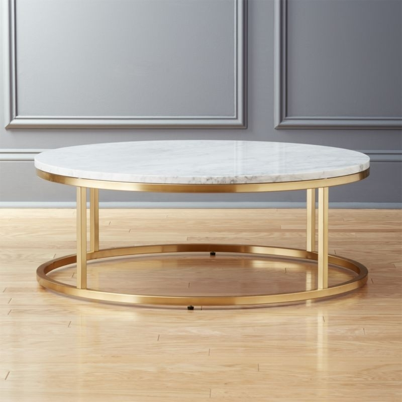 Marble Coffee Tables | Cb2 Intended For Large Slab Marble Coffee Tables With Antiqued Silver Base (Image 13 of 40)