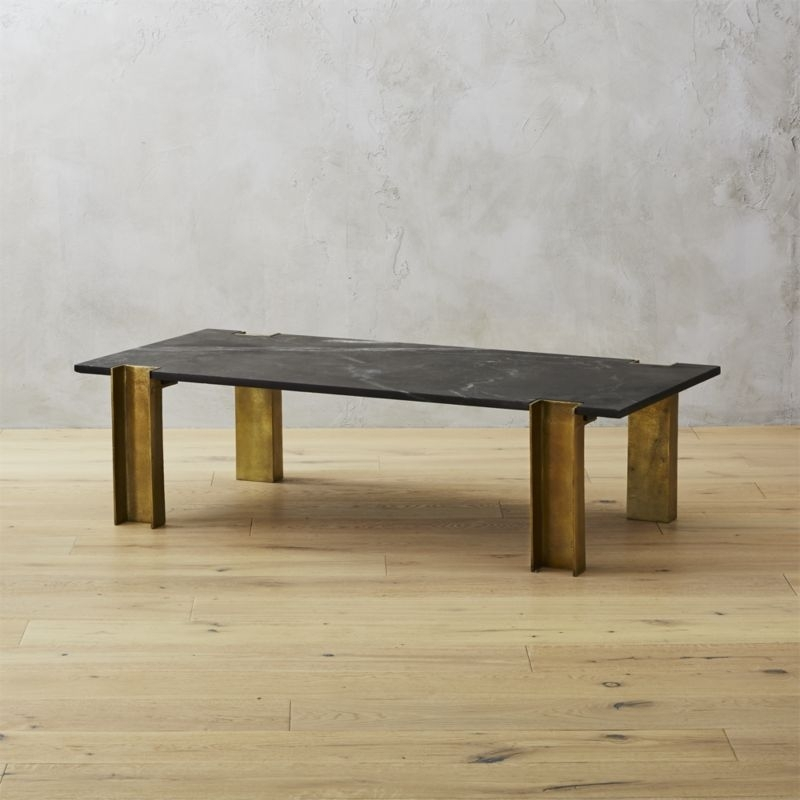 Marble Coffee Tables | Cb2 With Suspend Ii Marble And Wood Coffee Tables (Image 20 of 40)