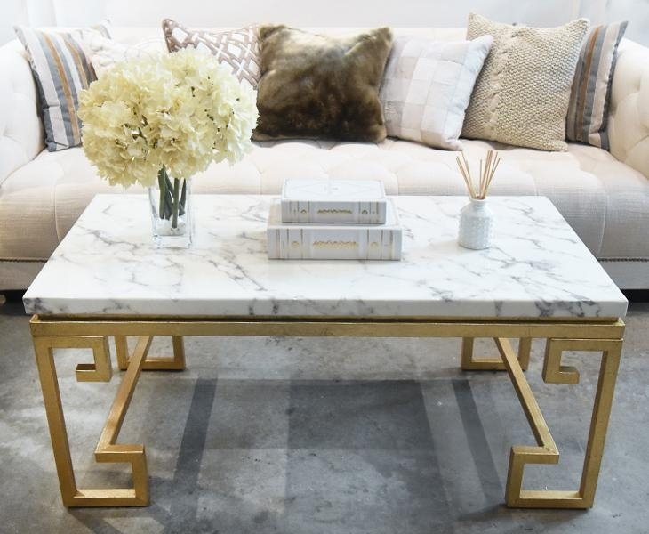 Marble Coffee Tables Decor Ideas 730×600 Attachment | Smart4Net (Image 24 of 40)