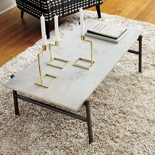 Marble Coffee Tables For Every Budget Apartment Therapy Within Table For Alcide Rectangular Marble Coffee Tables (Photo 27 of 40)