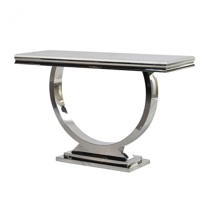 Marble Console Table With 2 Tone Grey And White Reviews Cb2 Inside 2 Tone Grey And White Marble Coffee Tables (View 39 of 40)