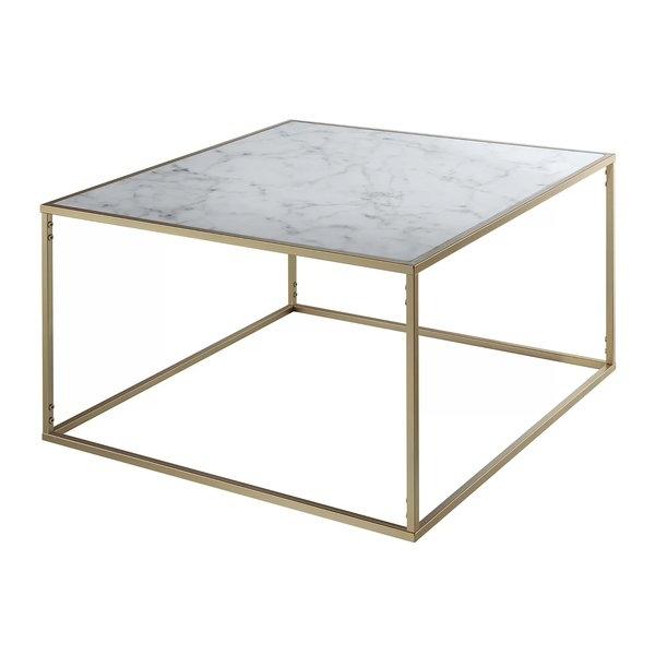 Marble/granite Top Coffee Tables You'll Love | Wayfair In Pine Metal Tube Coffee Tables (Image 22 of 40)