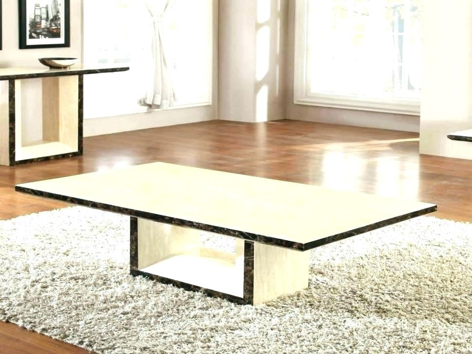 Marble Slab Coffee Table Coffee Slab Marble Coffee Table Cb2 Pertaining To Slab Large Marble Coffee Tables With Brass Base (View 8 of 40)