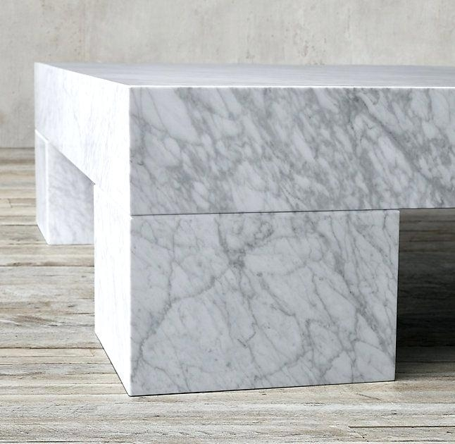 Marble Slab Coffee Table Coffee Table White Marble Coffee Table Intended For Large Slab Marble Coffee Tables With Antiqued Silver Base (Image 16 of 40)