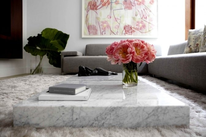Marble Slab Coffee Table Home Design Gallery Ideas | Mimodelaviation With Regard To Slab Large Marble Coffee Tables With Brass Base (Image 28 of 40)
