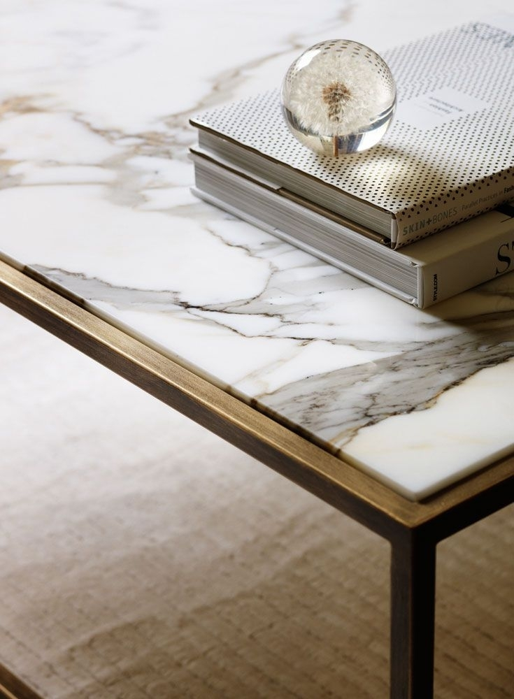 Marble Top Coffee Table | Bonners Furniture Throughout Smart Round Marble Brass Coffee Tables (Image 29 of 40)