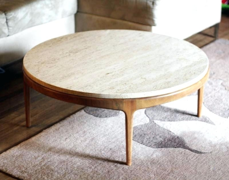 Marble Top Coffee Table Round – Seamdrakon (Image 18 of 40)