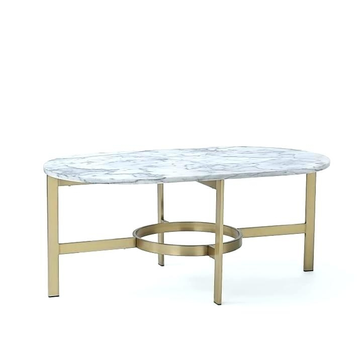 Marble Top End Tables Marble Top Coffee Table Image Of Oval Marble Throughout Brisbane Oval Coffee Tables (Image 20 of 40)