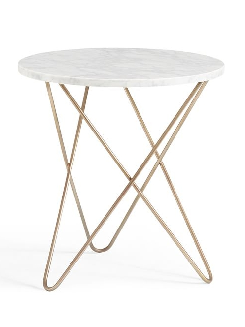 Marble Top Side Table | Interiors | Pinterest | Marble Top, Marbles With Intertwine Triangle Marble Coffee Tables (Photo 22 of 40)