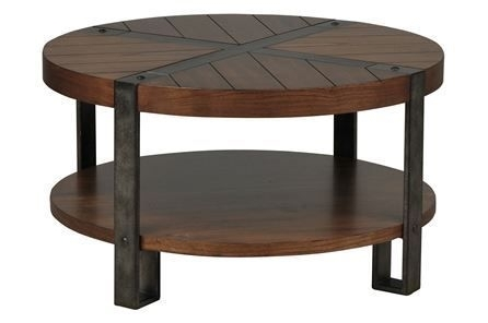 Marley Round Cocktail Table – Signature | Coffee And Accent Tables In Mountainier Cocktail Tables (View 3 of 40)