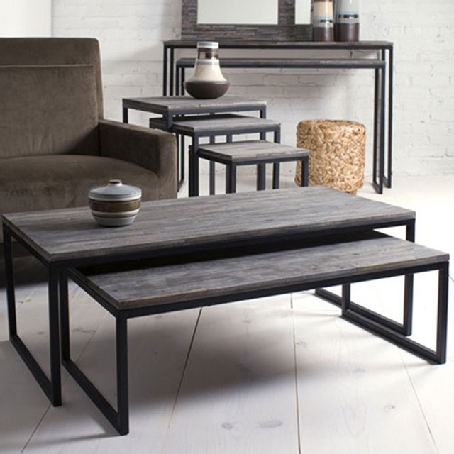 Marvelous Contemporary Living Room Tables Shiraleah Rubberwood Inside Set Of Nesting Coffee Tables (View 10 of 40)