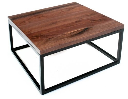 Marvelous Square Rustic Coffee Table Modern Regarding Inspirations For Modern Rustic Coffee Tables (Image 19 of 40)