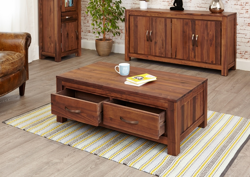 Featured Image of Walnut 4 Drawer Coffee Tables