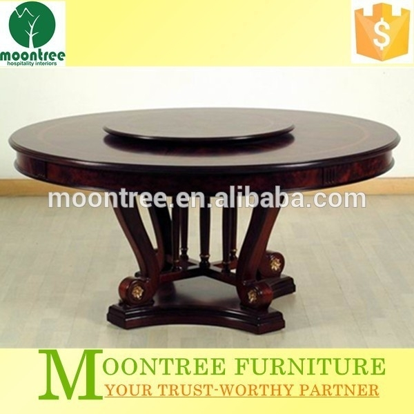 Mdt 1102 Top Quality Wooden Round Rotating Dining Table – Buy Wooden Pertaining To Spin Rotating Coffee Tables (Image 11 of 40)