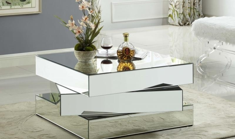 Meridian Furniture Haven Modern Glass Top Chrome Steel Coffee Table Intended For Haven Coffee Tables (Photo 9 of 40)