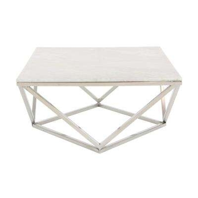 Metal – Coffee Table – Litton Lane – Coffee Tables – Accent Tables With Inverted Triangle Coffee Tables (View 34 of 40)