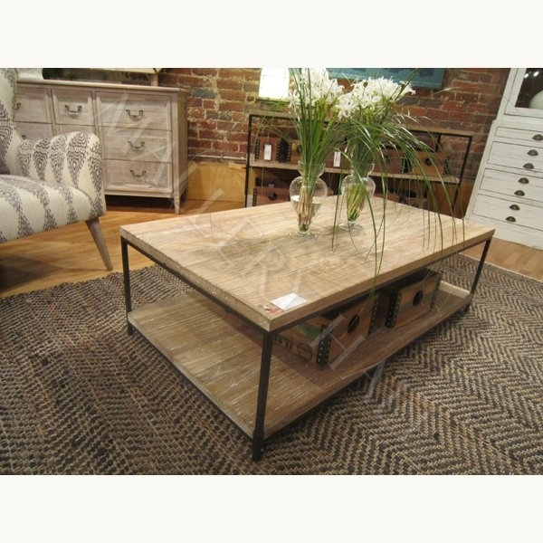 Metal Frame With Reclaimed Elm Wood Coffee Table : Mallery Hall In Reclaimed Elm Iron Coffee Tables (Photo 34 of 40)