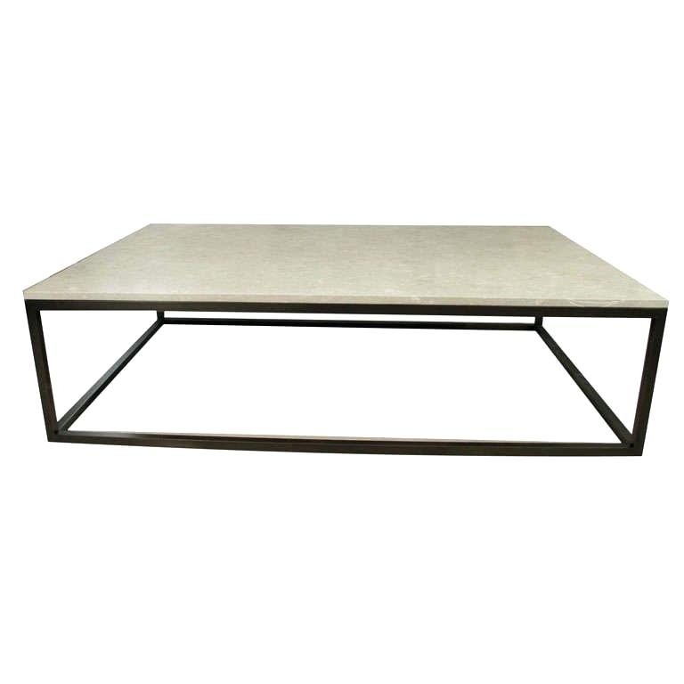 Metal Top Coffee Table Stone Top Coffee Table On Blackened Metal Inside Stone Top Coffee Tables (Image 17 of 40)