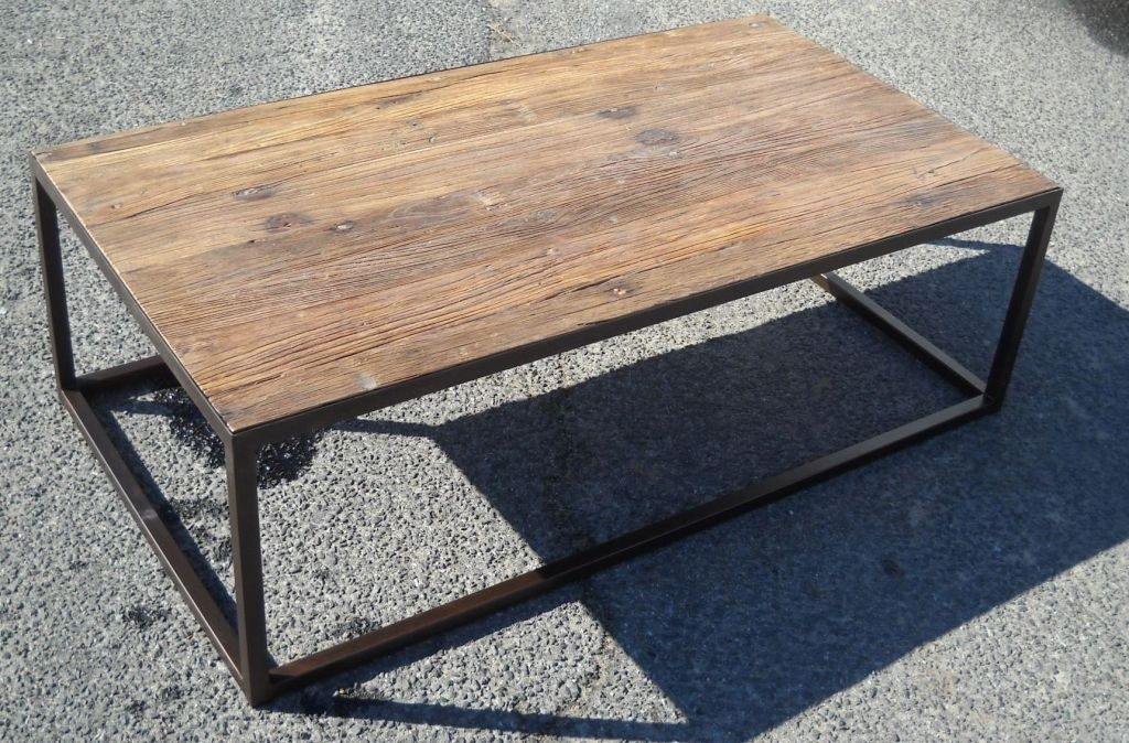 Metal Wood Coffee Table – Decordiva Interiors In Reclaimed Elm Iron Coffee Tables (View 8 of 40)