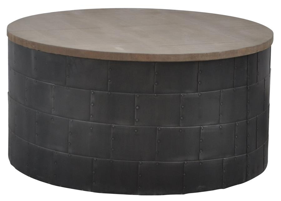 Metropolitan Foundry Round Cocktail Table – Horizon Home Furniture Pertaining To Foundry Cocktail Tables (Image 31 of 40)