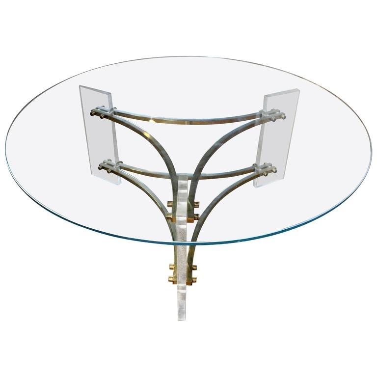 Mid Century Brushed Brass And Acrylic Coffee Tablecharles Hollis With Acrylic & Brushed Brass Coffee Tables (Photo 10 of 40)