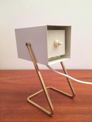 Mid Century Desk Lamps Cube Lamp From Kaiser 3 Table Brass – Vbphotoblog Intended For Brass Iron Cube Tables (Image 26 of 40)