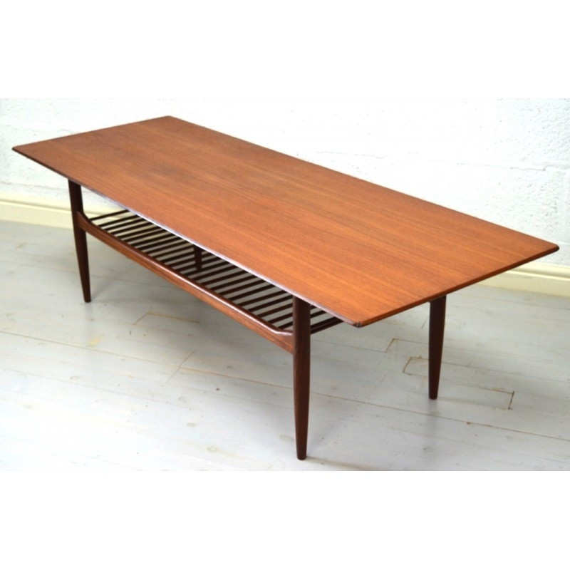 Mid Century G Plan Large Teak Coffee Table, Ib Kofod Larsen – 1960S Inside Large Teak Coffee Tables (View 16 of 40)