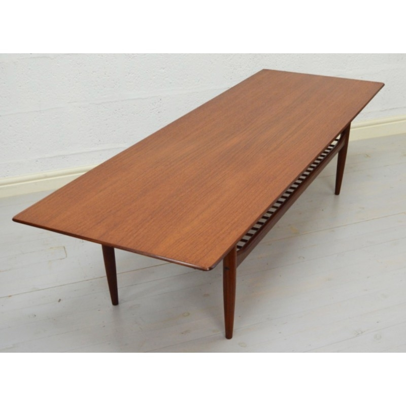 Mid Century G Plan Large Teak Coffee Table, Ib Kofod Larsen – 1960S Regarding Large Teak Coffee Tables (View 6 of 40)