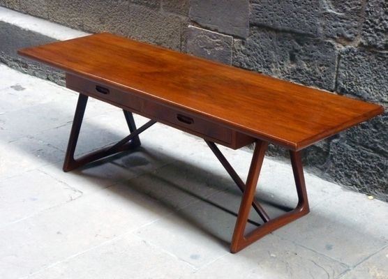 Mid Century Large Danish Teak Coffee Table, 1960S For Sale At Pamono Pertaining To Large Teak Coffee Tables (View 34 of 40)