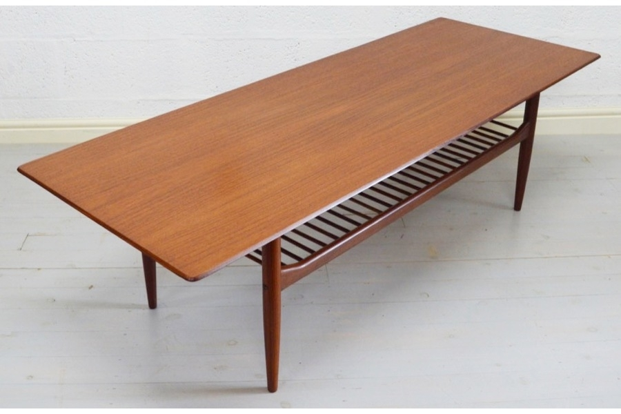 Mid Century Large Teak Coffee Tablekofod Larsen For G Plan For Large Teak Coffee Tables (View 32 of 40)