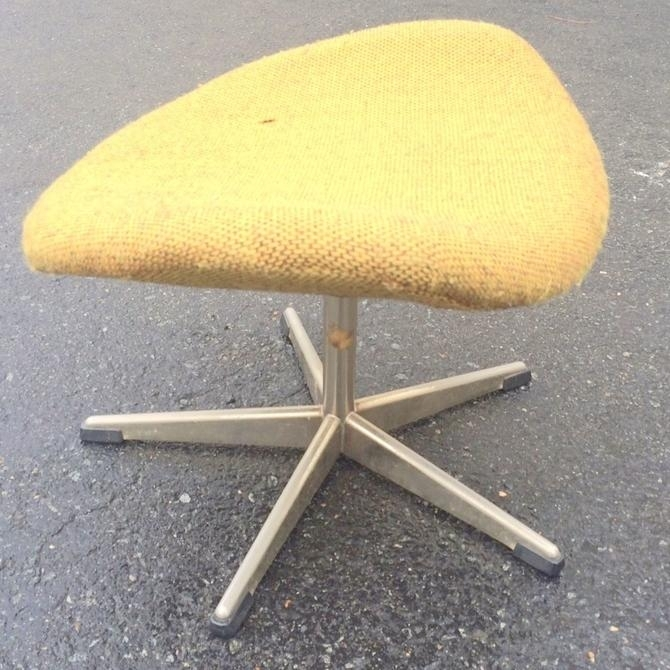 "Mid Century Modern Danish "" Jacobsen "" Style Egg Ottoman Stool Eames Throughout Mid Century Modern Egg Tables (Image 15 of 40)"
