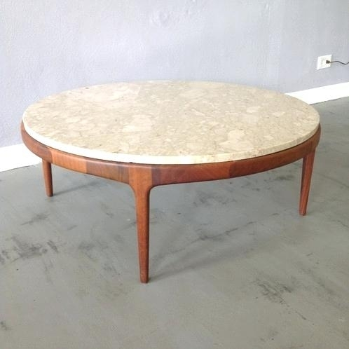 Mid Century Modern Round Coffee Table Coffee Table Mid Century For Mid Century Modern Marble Coffee Tables (Image 19 of 40)