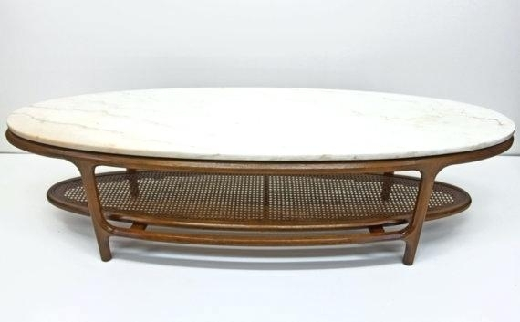 Mid Century Oval Coffee Table Awesome Oval Marble Coffee Table Lane Within Mid Century Modern Marble Coffee Tables (Image 22 of 40)