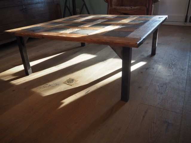 Mid Century Parquet Coffee Table, 1950S For Sale At Pamono For Parquet Coffee Tables (Image 17 of 40)