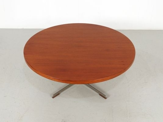 Mid Century Round Teak Coffee Table, 1960S For Sale At Pamono Inside Round Teak Coffee Tables (Image 16 of 40)