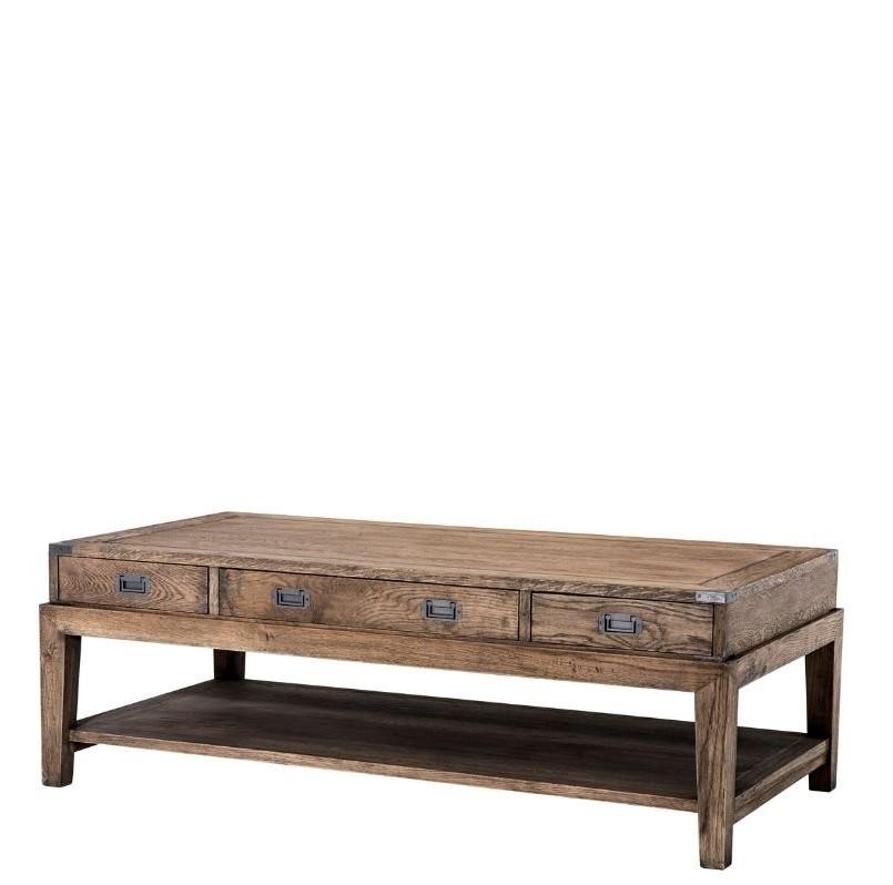 Military Smoked Oak Coffee Table With Regard To Smoked Oak Coffee Tables (View 16 of 40)