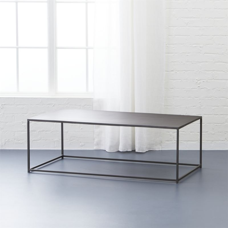 Mill Iron Coffee Table + Reviews | Cb2 In Modern Marble Iron Coffee Tables (Image 30 of 40)