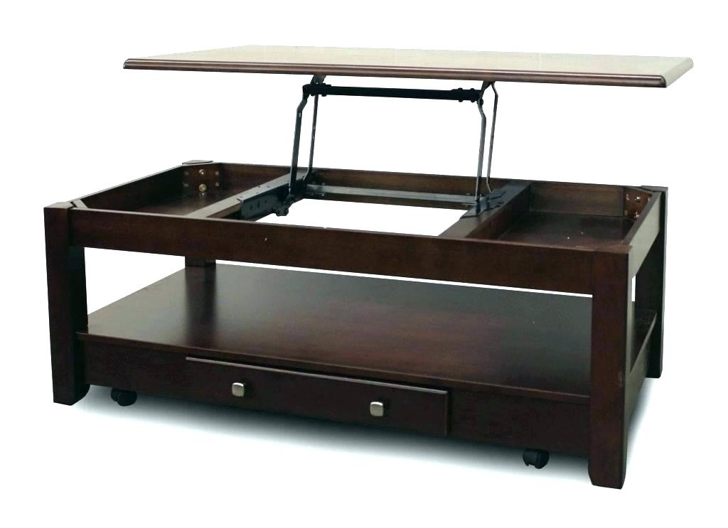 Mission Style Lift Top Coffee Table Set In Medium Oak – Coffee Table In Kelvin Lift Top Cocktail Tables (Image 19 of 40)