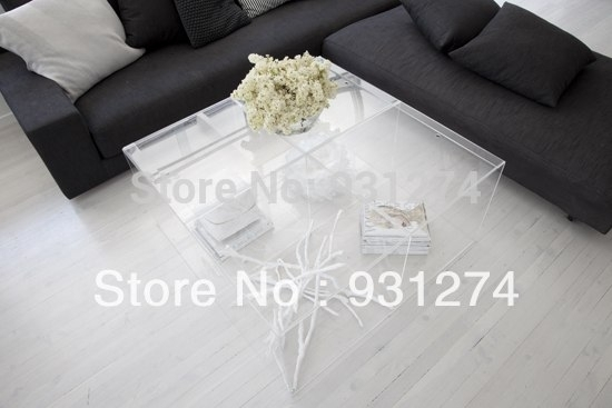 Modern Acrylic Coffee Table/lounge Room Coffee Table/perspex Side Throughout Modern Acrylic Coffee Tables (Image 25 of 40)