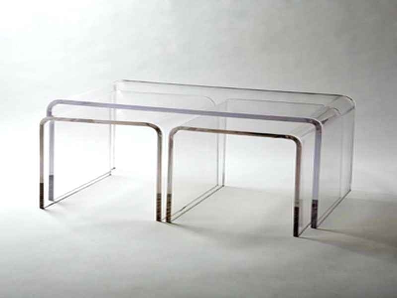 Modern Acrylic Coffee Table Modern Classic Square Crystal Cut Throughout Modern Acrylic Coffee Tables (Image 21 of 40)
