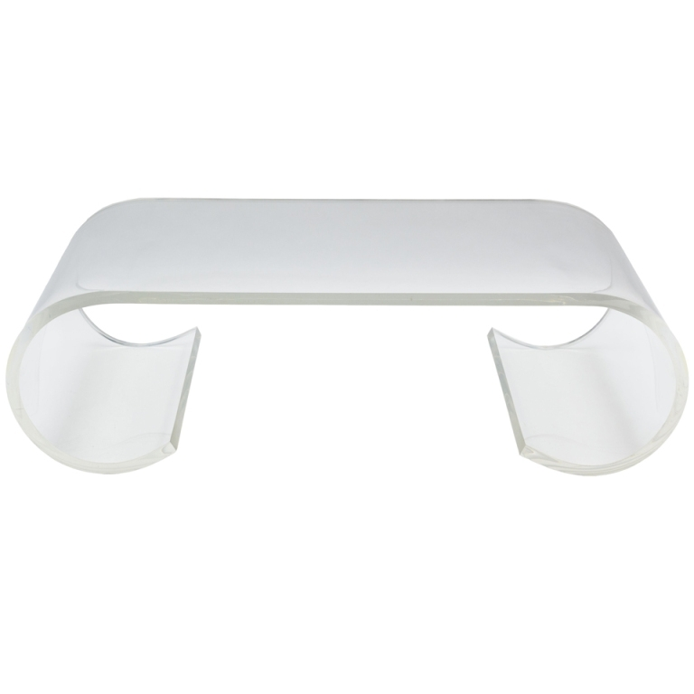 Modern Acrylic Coffee Table Tea Table,glass Furniture Long End Inside Modern Acrylic Coffee Tables (Image 23 of 40)