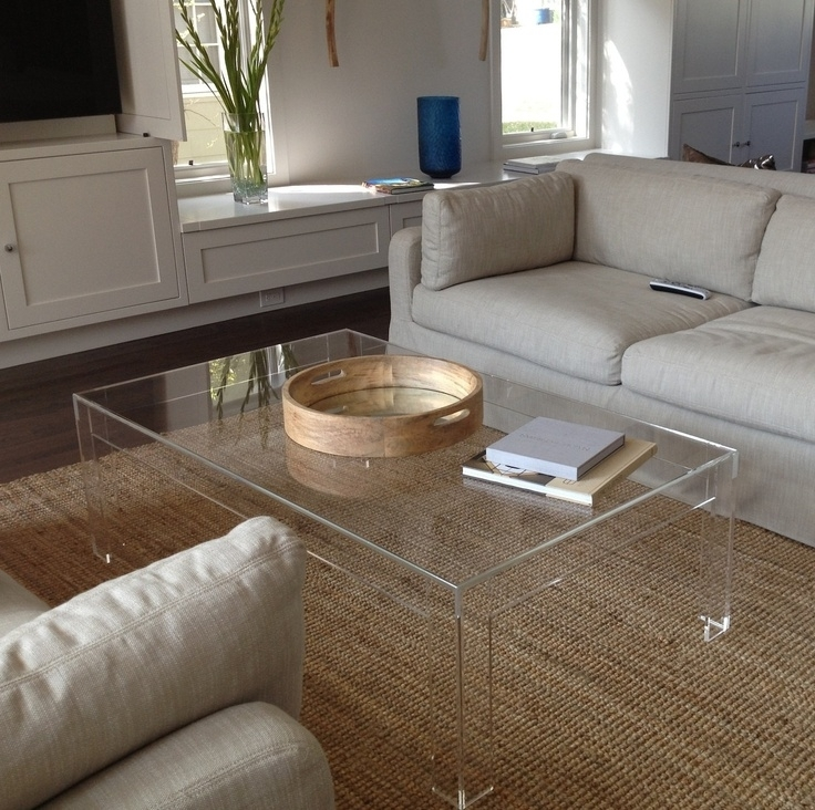 Modern Acrylic Coffee Table Tea Table,office And Living Room With Regard To Modern Acrylic Coffee Tables (Image 24 of 40)